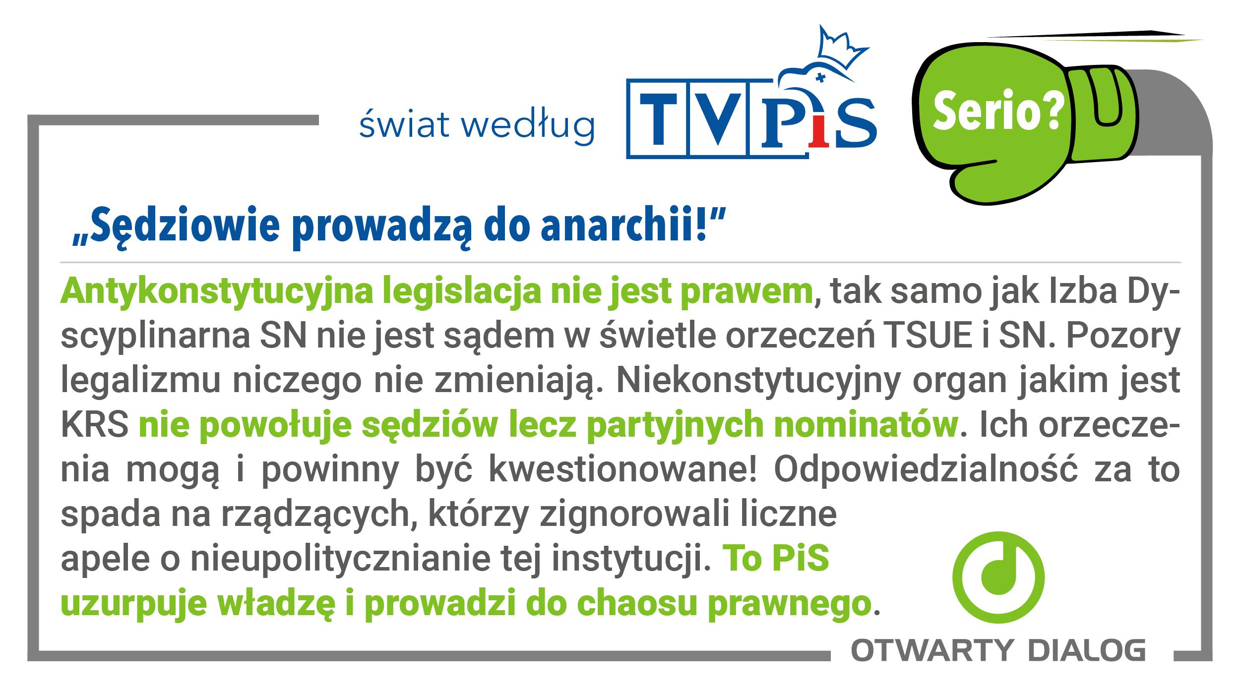 Świat według TVPiS: seria grafik o sądownictwie w Polsce
