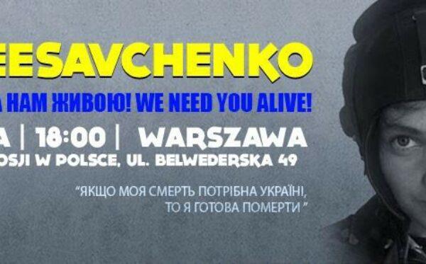 Wielka demonstracja solidarności z Nadią Savchenko