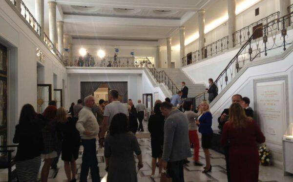 Wizyta w Sejmie RP ukraińskich działaczy i dziennikarzy
