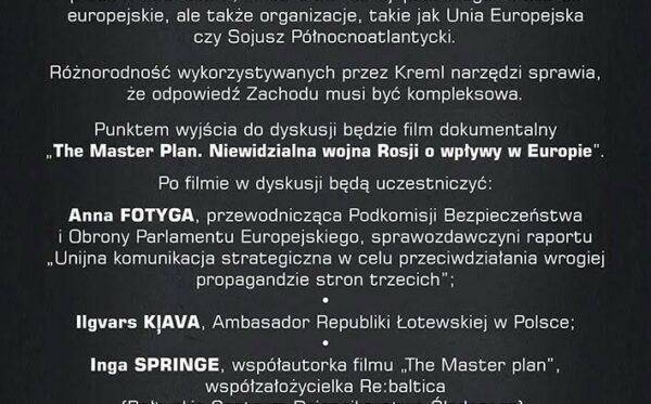 Rosyjska propaganda wobec UE i państw członkowskich – zaproszenie do dyskusji