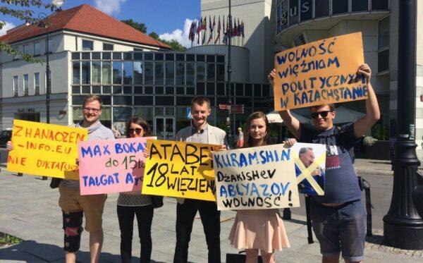Nursultan Nazarbayev odwiedził Warszawę – protest obrońców praw człowieka