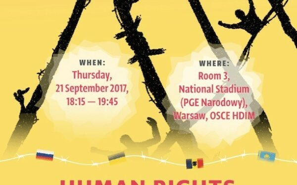 """Zaproszenie na seminarium: """"Prawa człowieka a prześladowania polityczne w Rosji, na Ukrainie, w Mołdawii i Kazachstanie""""- OBWE HDIM 2017"""