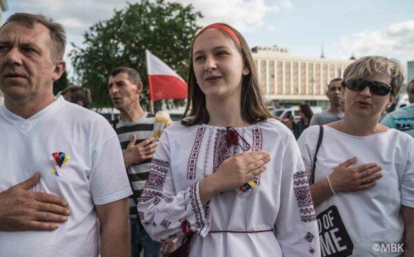 Dzień solidarności polsko-ukraińskiej w Warszawie