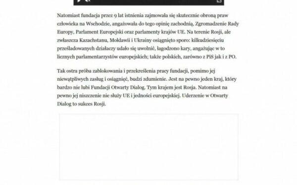 Andrzej Wielowieyski dla Rzeczpospolitej: Uderzenie w Otwarty Dialog to sukces Rosji