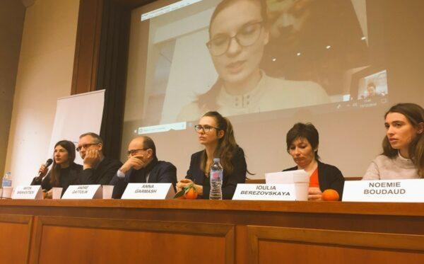 Lyudmyla Kozlovska przemawia podczas wydarzeń na Sorbonie we Francji oraz w Wyszehradzie na Węgrzech