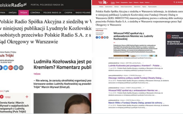 Polskie Radio wykonuje zabezpieczenie sądu ws. dóbr osobistych ODF