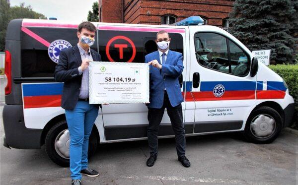 Finalizujemy rozliczenia akcji #PosiłekDlaLekarza: 58 tys. zł dla Szpitala Miejskiego nr 4 w Gliwicach