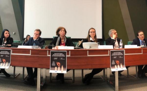 O rządach prawa, wolności mediów i niezależności NGO-sów w Polsce – 4-dniowa misja ODF w Strasbourgu