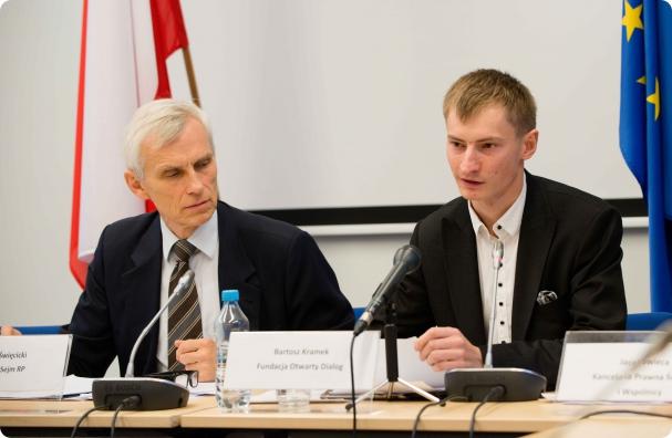 Od lewej: Marcin Święcicki, Bartosz Kramek