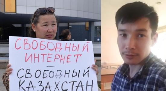 Zatrzymani działacze Anna Shukeeva i Zhanibek Zhunusov. Zdjęcia: strony działaczy w serwisie Facebook.