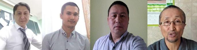Kalas Nurpeisov, Aslan Makatov, Muslim Sapargaliyev, Yerkin Kaziev. Zdjęcie: osobiste archiwa działaczy.