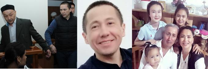 Osoby skazane na karę więzienia za krytykę władz w mediach społecznościowych: Kenzhebek Abishev, Almat Zhumagulov, Aset Abishev, Ablovas Dzhumayev oraz żona Dzhumayeva, Aigul Akberdieva, której sprawa wciąż jest w toku. Zdjęcia z osobistych archiwów.