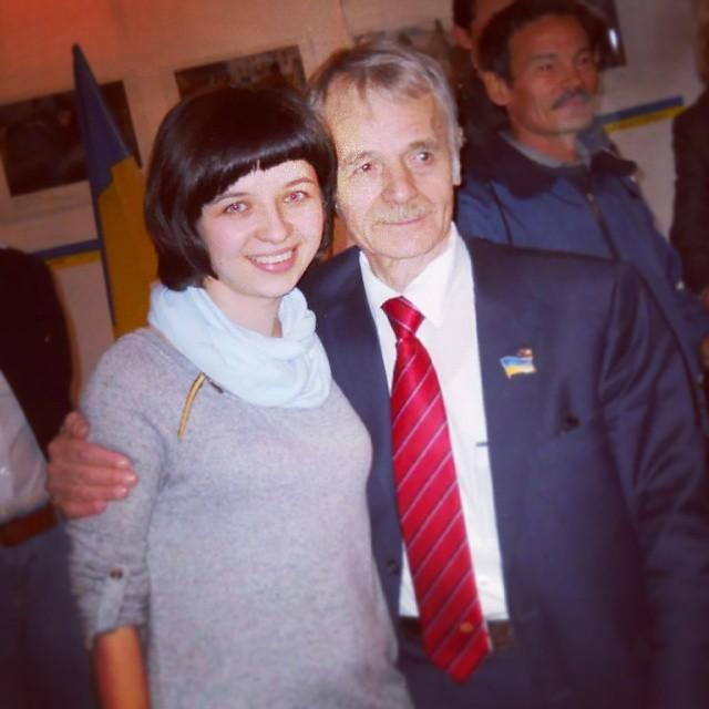 Natalia Panchenko z ODF wraz z Mustafą Dżemilewem
